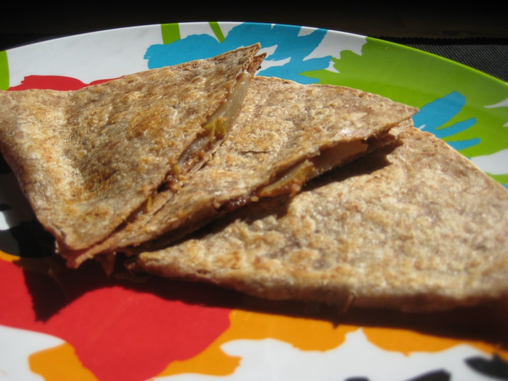 peanut but ter apple quesadilla yields 1 quesadilla prep time 4 ...